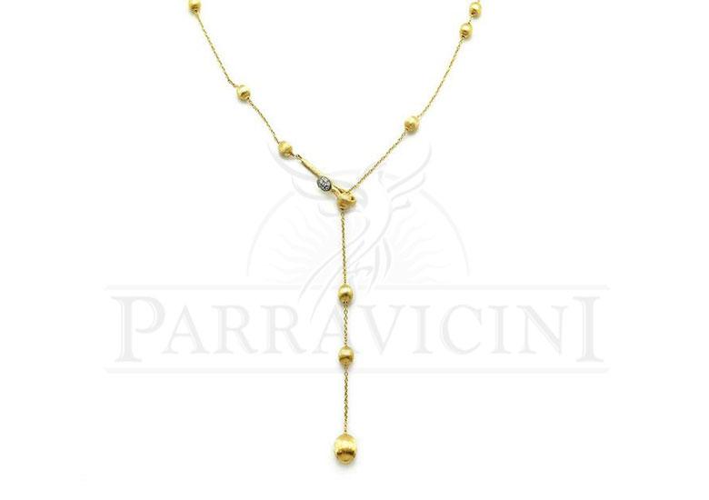 acquisto economico 340ab 8d6ea Collana con ciondolo Oro Giallo 18 kt con diamanti