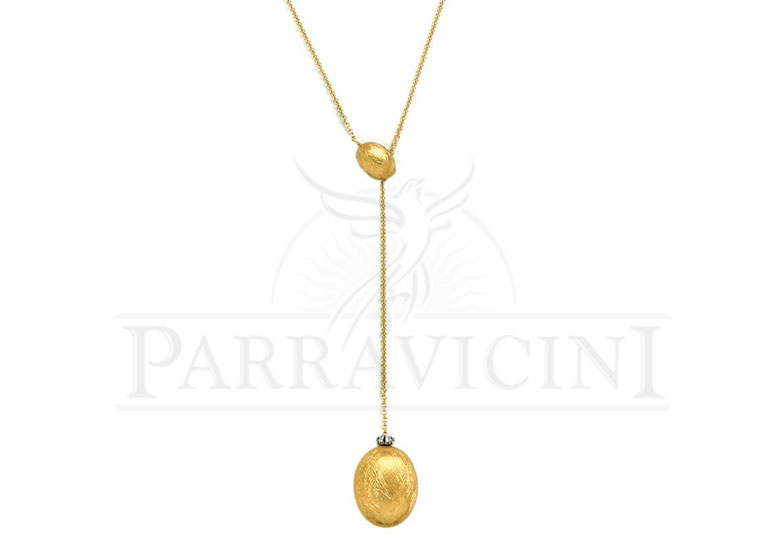 "Collana con ciondolo Oro Giallo 18 kt con diamanti ""Dancing in the Rain"" CS14-538"