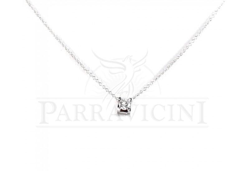 a basso costo 80fba 75b7a DIAMANTI PARRAVICINI Girocollo oro bianco 18 kt e diamanti DPGR05
