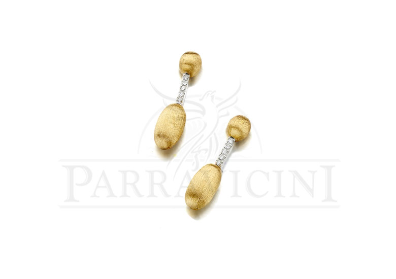 "Orecchini Oro Giallo 18 kt con diamanti ""Dancing in the Rain"" OS3-589"